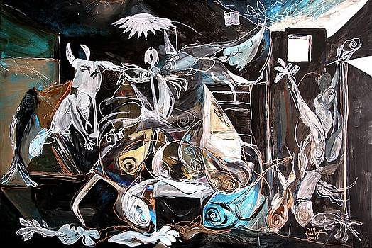 Fish Guernica - Redefining Misery - Homage to Picasso 2017 by J Vincent Scarpace