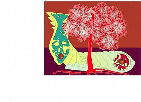Fish In A Red Tree by Shirley Sacks