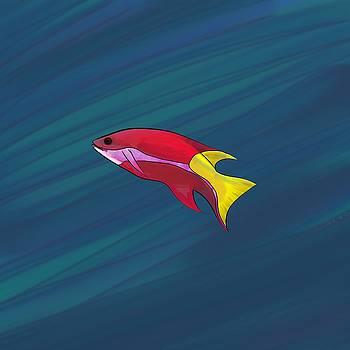 Fish in Felt Pen by Hannah Starrett Wright