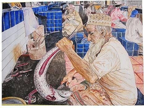 Fish market Disemboweling by Ciocan Tudor-cosmin