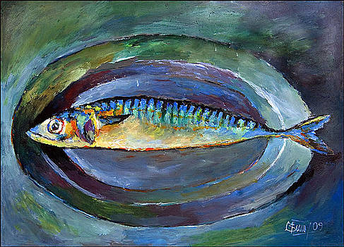 Fish On Plate by Peter Black