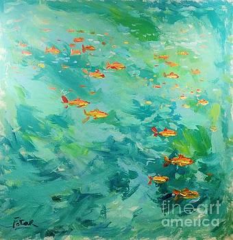 Fish Painting  by Russ Potak