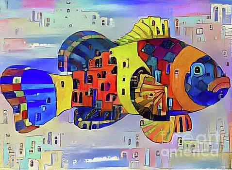 Fish Print Five by Nina Silver