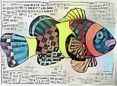 Fish Print One by Nina Silver