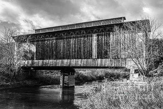 Fisher Covered Bridge Wolcott Vermont by Edward Fielding