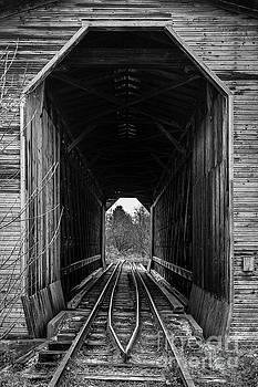 Edward Fielding - Fisher Covered Railroad Bridge Black and White