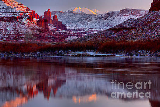Fisher Towers Landscape Glow by Adam Jewell