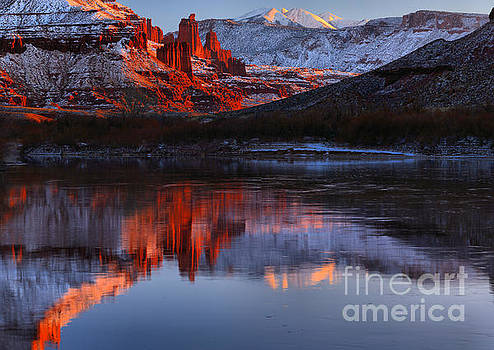 FIsher Towers Red Rock Reflections by Adam Jewell