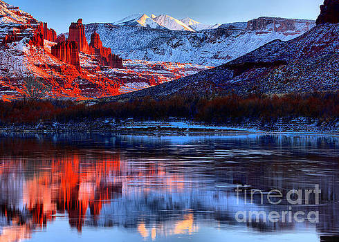 Adam Jewell - Fisher Towers Sunset Winter Landscape