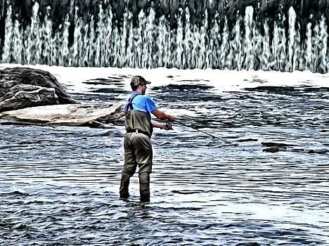 Fisherman on the River by Deborah Kunesh
