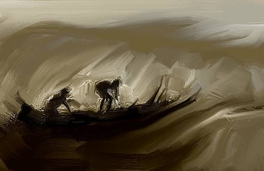 Fishermen by Arvind T Akki