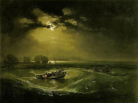 Joseph Mallord William Turner - Fishermen At Sea