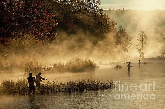Fishermen in the mist by Iris Greenwell