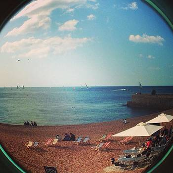 #fisheye #sea #blue #beach by Natalie Anne