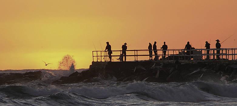 Fishing at dawn by Julianne Felton