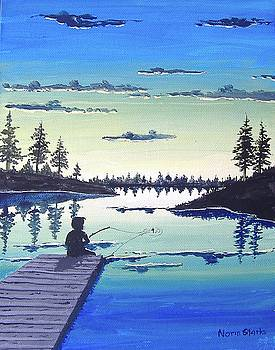 Fishing at Dusk by Norm Starks