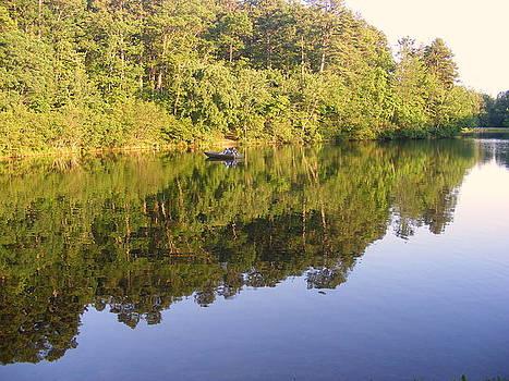 Fishing at Lake Oconee by Elena Tudor