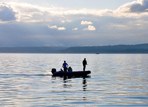 Fishing at Sundown by Caroline Reyes-Loughrey