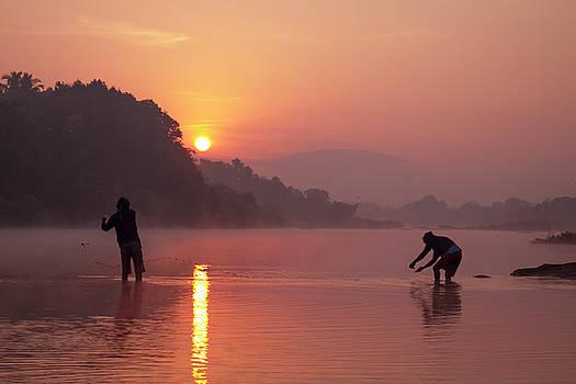 Fishing at Sunrise by Hitendra SINKAR