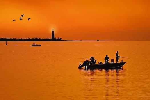 Jeff S PhotoArt - Fishing at sunset