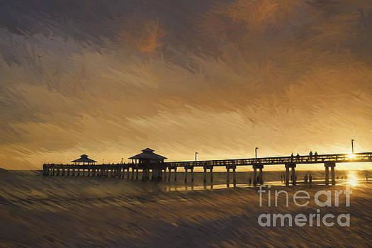 Fishing At Sunset by Scott Wood