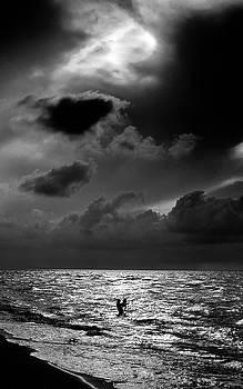 Fishing at Sunset Varadero  Cuba  by Gregory Varano