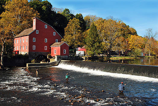 Fishing at the Old Mill by Lori Tambakis