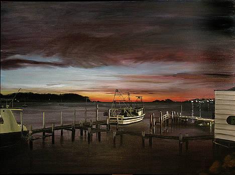 Elisabeth Dubois - Fishing Bay at sunrise