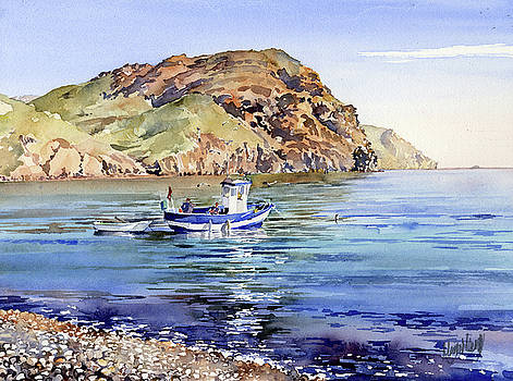 Fishing Boat At Las Negras by Margaret Merry