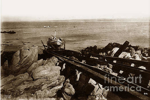 California Views Mr Pat Hathaway Archives - Fishing Boat B 399 on Marine Railway System 1920