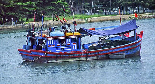 Fishing Boat Hha Trang Harbor, Vietnam by Rich Walter
