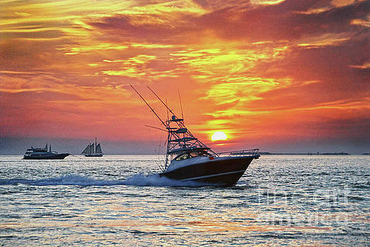 Fishing Boat Key West Sunset by Catherine Sherman