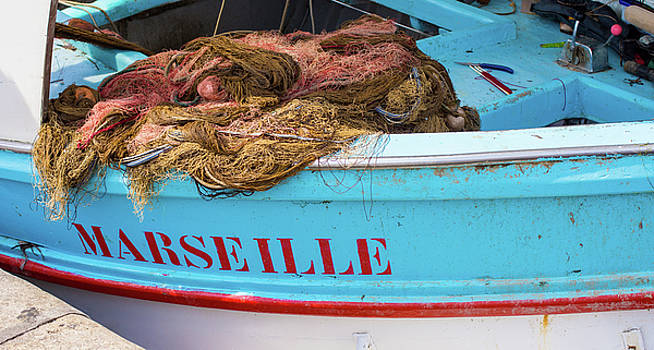 Fishing Boat Marseille by Elly De vries