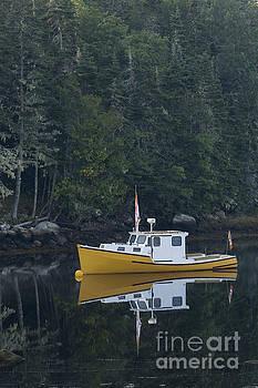 Dan Friend - Fishing boat moored on the water