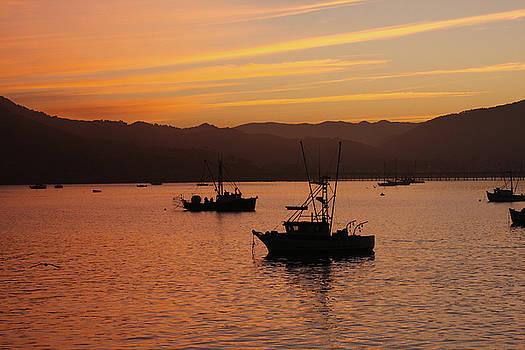 Art Block Collections - Fishing Boats at Dawn