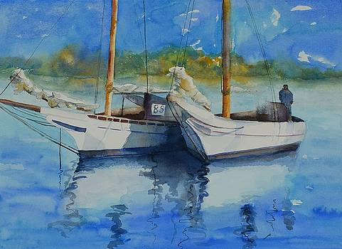 Fishing Boats by Celene Terry