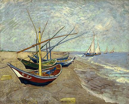 Fishing Boats On The Beach by Van Gogh