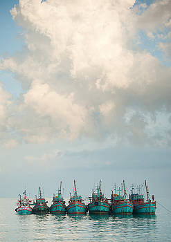 Fishing boats by Victoria Savostianova
