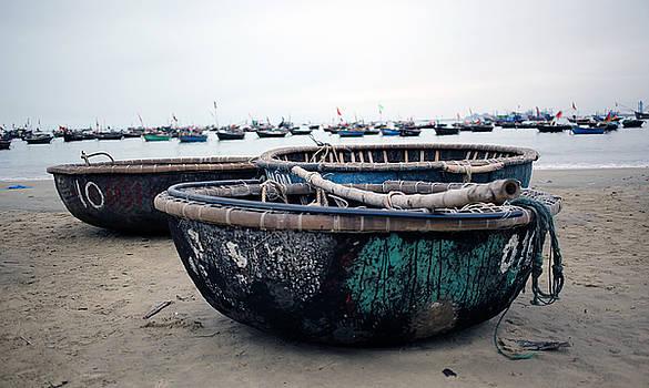 Fishing Boats Vietnam by James Wasdell