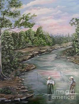 Fishing Buddies by Faye Creel