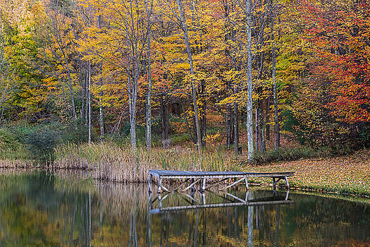 Fishing Dock in the Fall by Frank Morales Jr