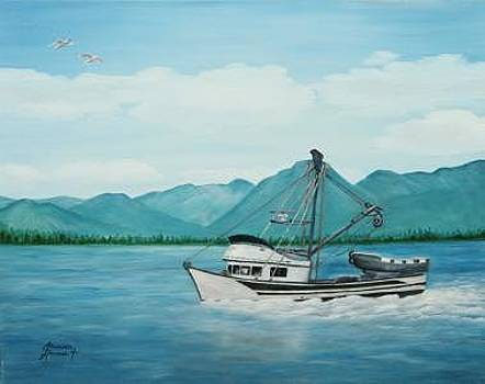 Fishing In Alaska by Elizabeth Hannah