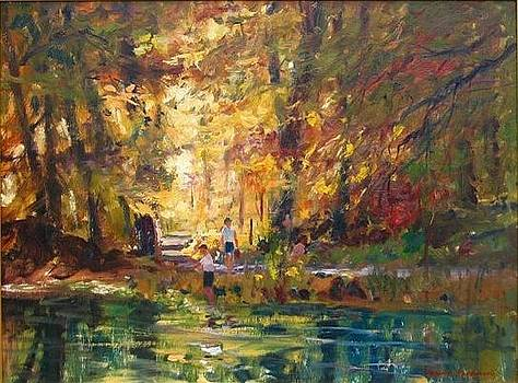 Fishing In Autumn by Bogomir Bogdanovic