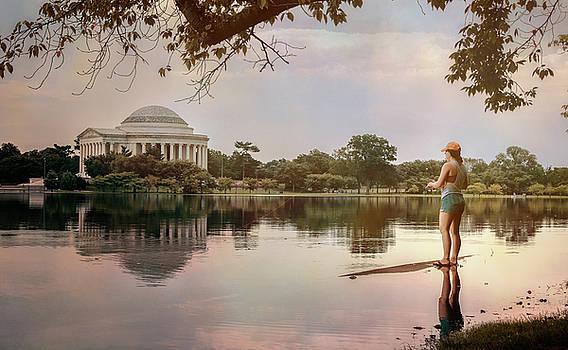 Fishing in Washington DC by Joan Carroll