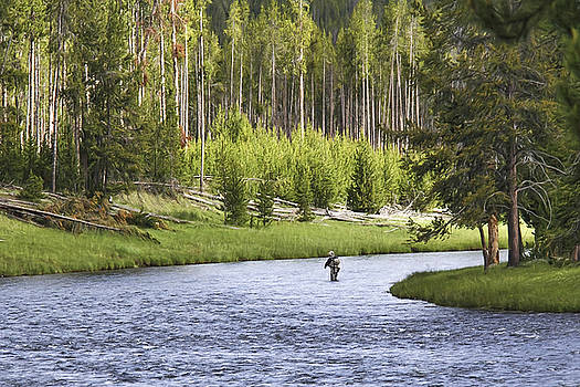Wes and Dotty Weber - Fishing in Yellowstone