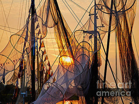 Nick  Biemans - Fishing nets during sunset