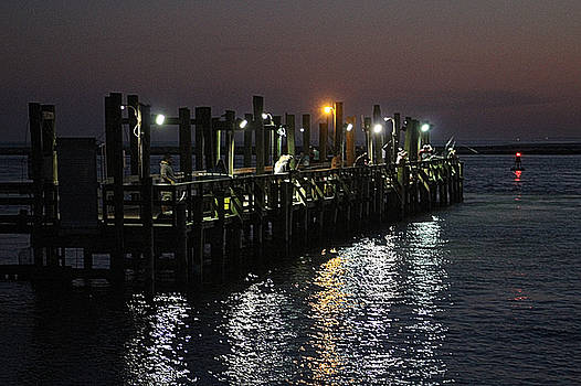 Fishing Off The Oceanic Fishing Pier by Robert Banach