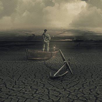 Fishing on a dead river by Joao Fe