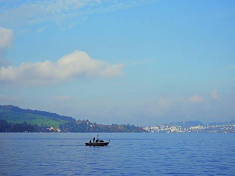 Fishing on Lake Lucerne by Pema Hou