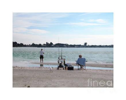 Fishing on Lido Key by Karen Francis